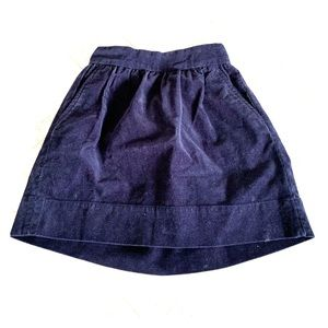 J Crew girls 6-7 corduroy navy skirt